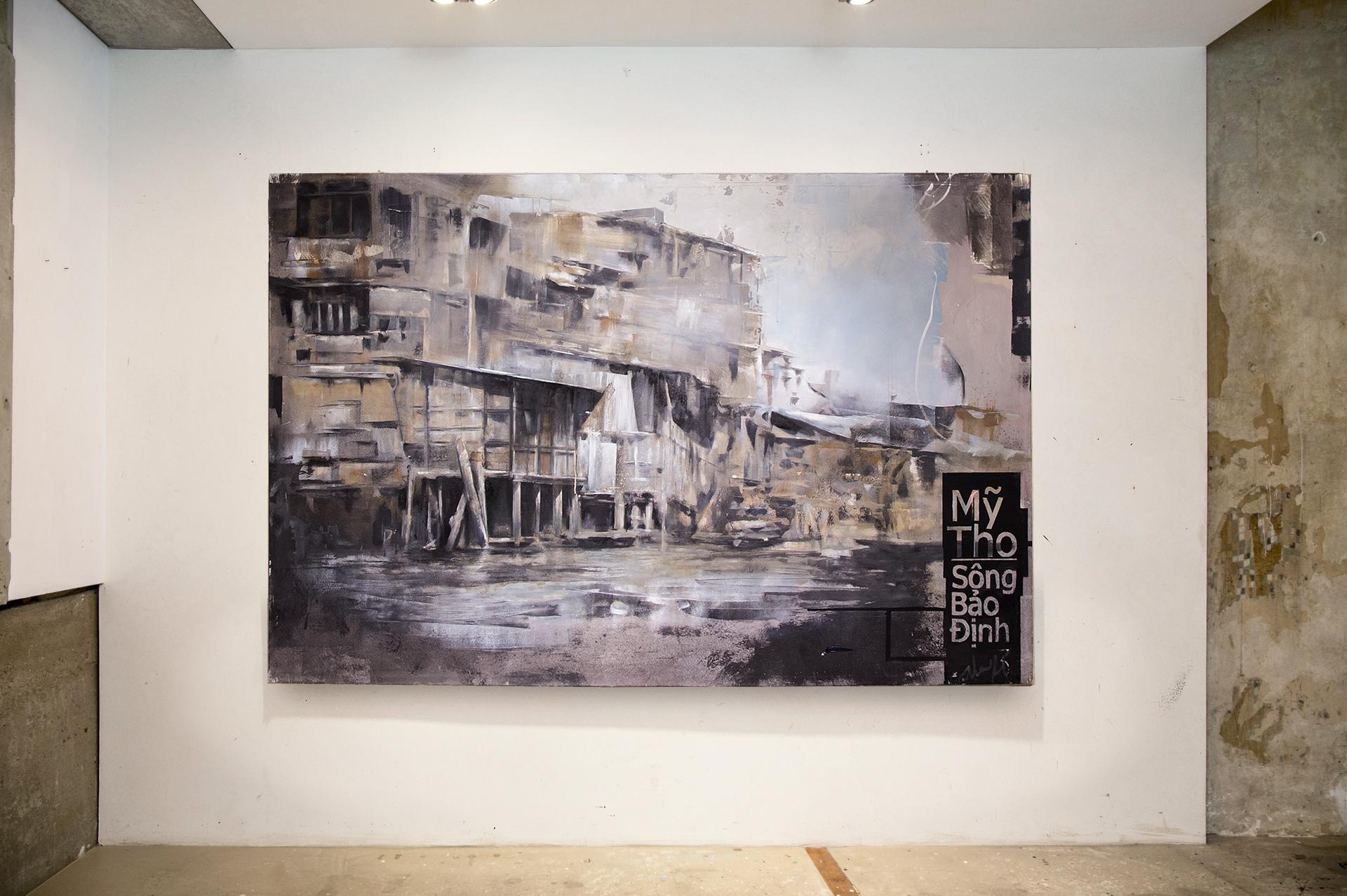 4_gemaelde_paintings_white_wall